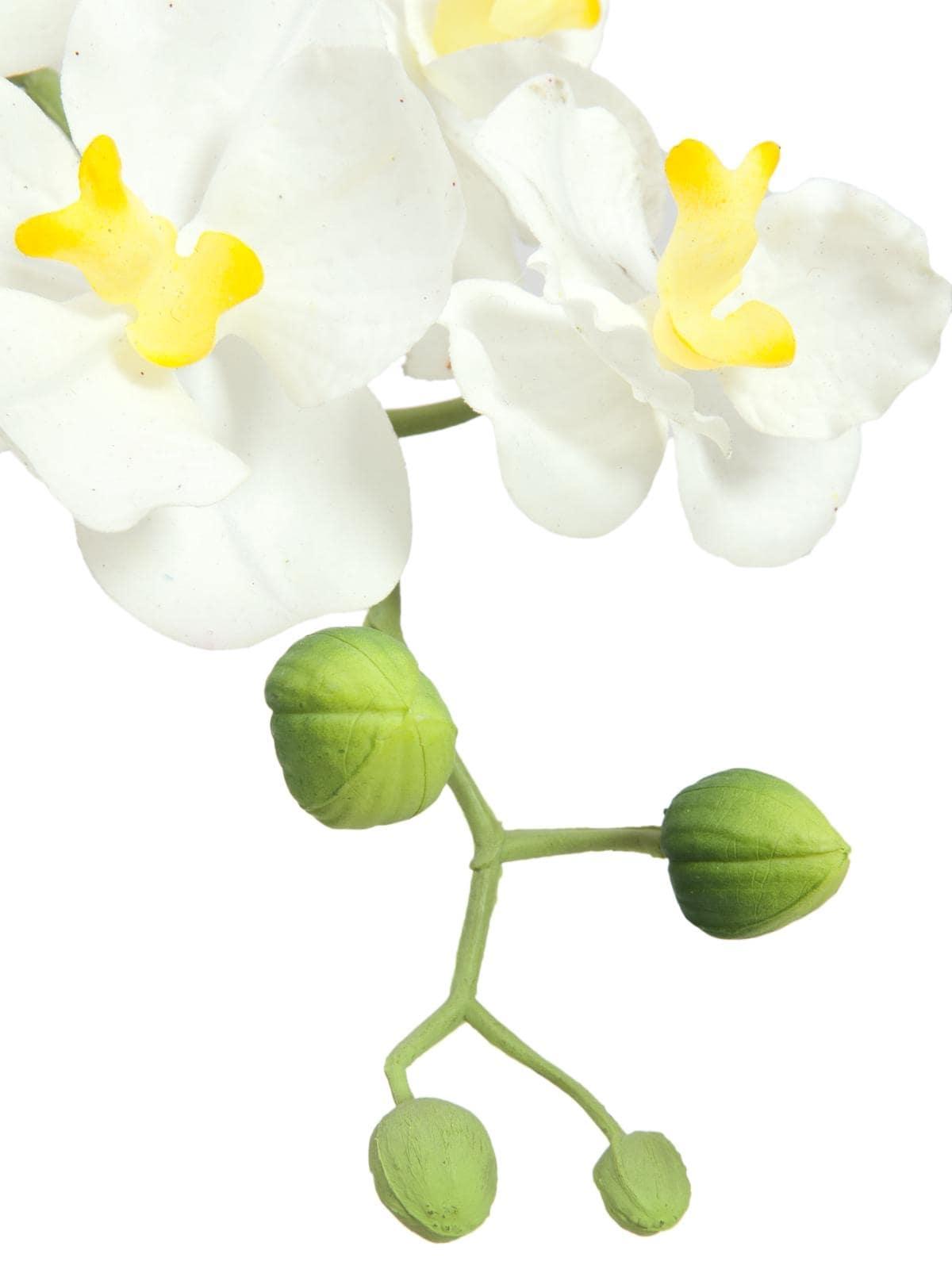 Fiori Orchidea Bianchi.Decorazione Orchidea Fiori Bianchi Artificiale In Vaso Arredo E