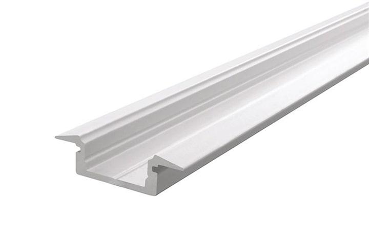 Aluminium profile ET-01-10, mat-white, 1 m | LED Strips and aluminum