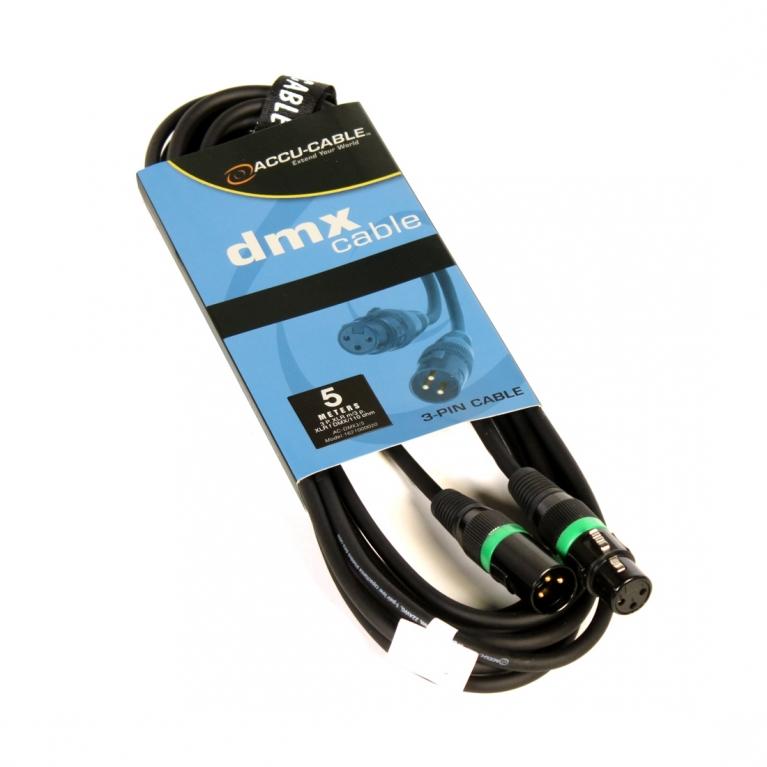 DMX cable 110 Ohm AC-DMX3/5 XLR 3 poles 5m | Cables & Connector ...