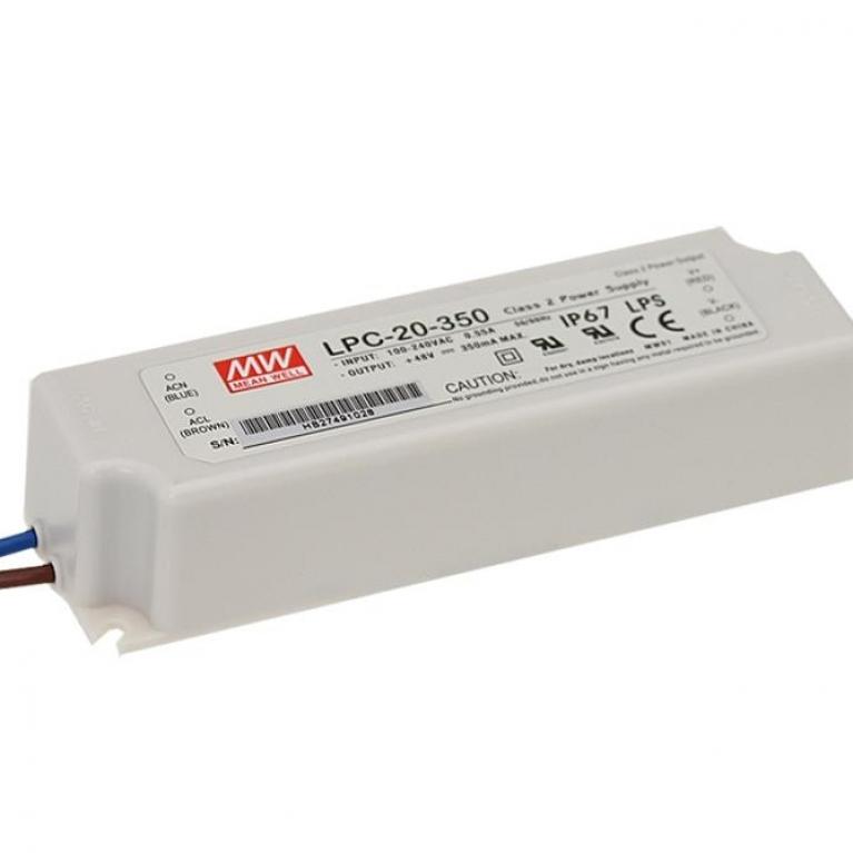 Alimentatore a corrente costante per led 16w 350ma ip67 for Alimentatori per led
